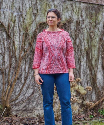 eine florale Bluse - Ella von SO Pattern