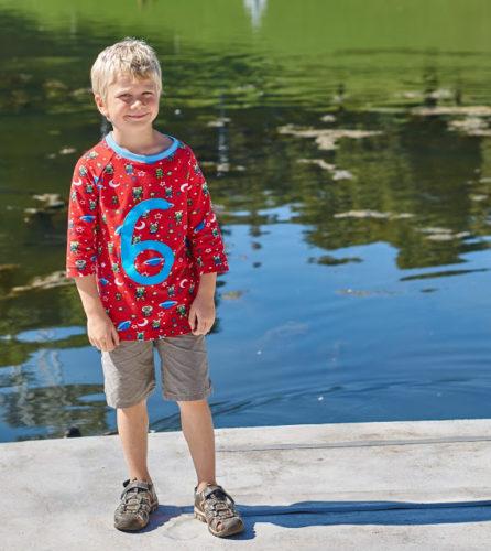 Ein Geburtstagsshirt für einen 6 Jährigen jungen Mann