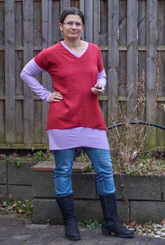 Blusenshirt Olivia als Kleid