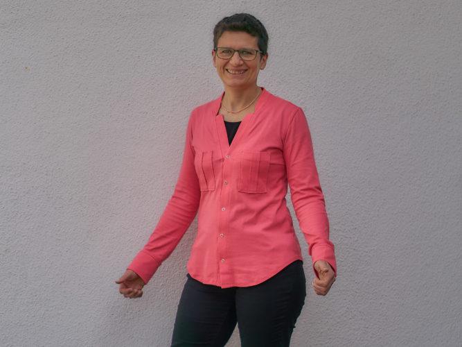 Jersey Bluse Umeko-B von Ingrid B-Pattern